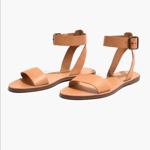 NWT Madewell The Boardwalk Ankle-Strap Sandal